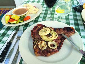 Porterhouse steak with side dish