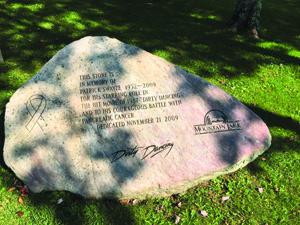 Patrick Swayze stone
